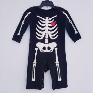 Old Navy Halloween Skeleton Onesie - 6-12 months
